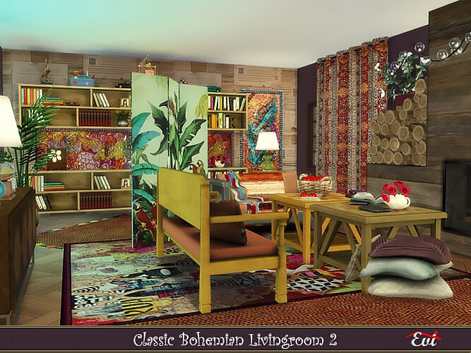 Classic Bohemian Livingroom 2 By Evi