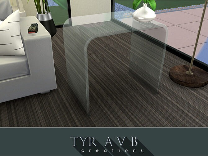 Sims 4 Modern Glass End Table by TyrAVB at TSR