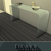 Modern Glass Console Table By Tyravb