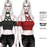 Avah Gothic Pentagram Sims 4 Top