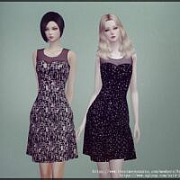 Above The Knee Sims 4 Dress