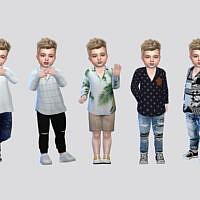 Abrigo Sims 4 Casual Shirt Toddler