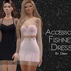 Accessory Fishnet Sims 4 Dress
