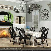 Agata Sims 4 Dining Room