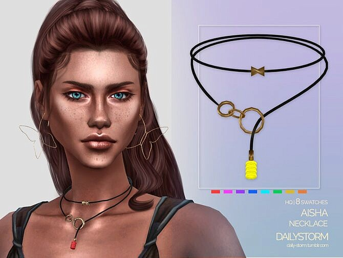 Sims 4 Aisha Necklace by DailyStorm at TSR