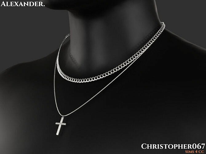 Sims 4 Alexander Necklace by Christopher067 at TSR