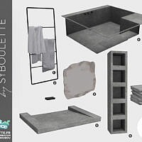 Ambre Sims 4 Bathroom Set