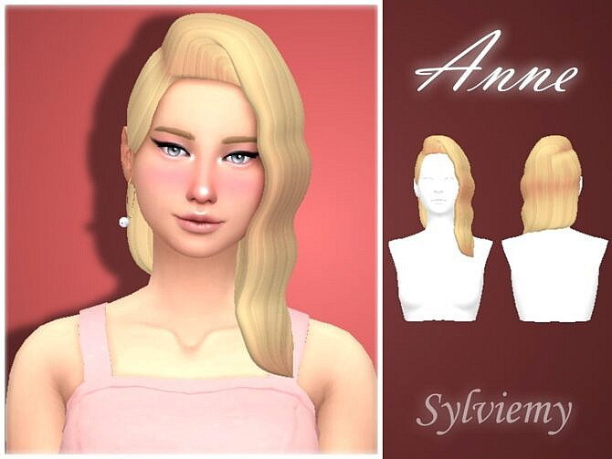 Sims 4 Anne Maxis Match Hair by Sylviemy at TSR