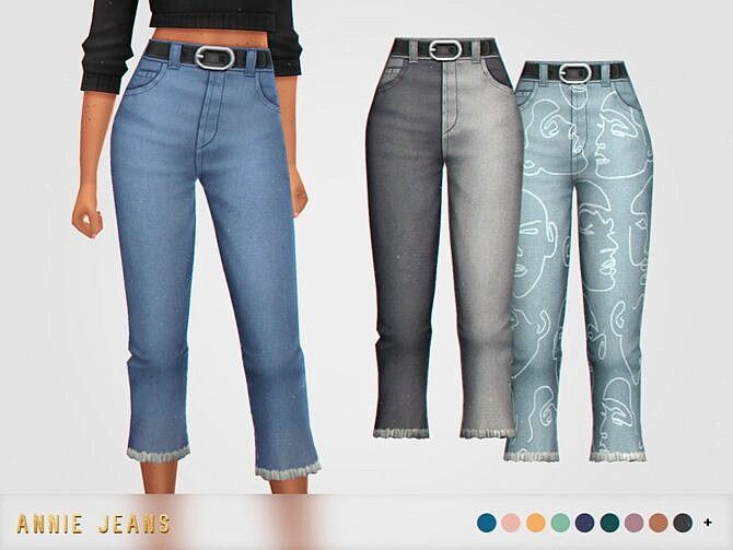 Sims 4 Annie Jeans by pixelette at TSR