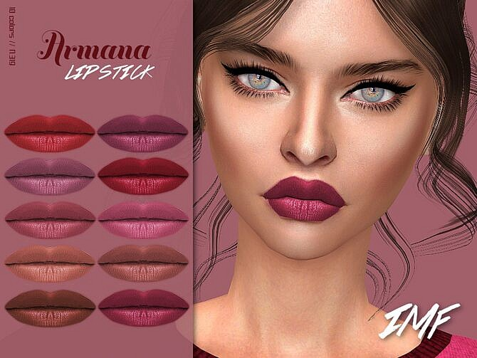 Sims 4 IMF Armana Lipstick N.319 by IzzieMcFire at TSR