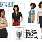 Bg Shirt Skirt Sims 4