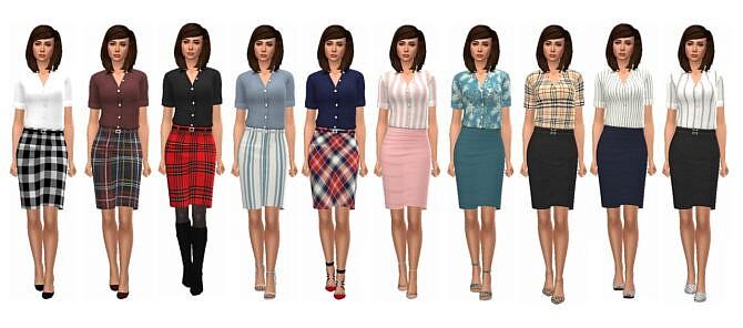 Sims 4 BG SHIRT & SKIRT at Sims4Sue