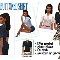 Buttoned Sims 4 Shirt Ep01