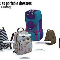 Backpacks Sims 4 Portable Dressers