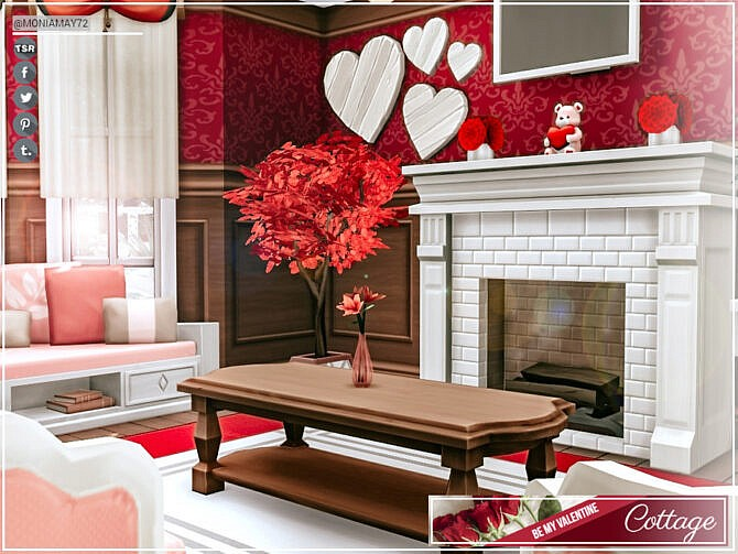 Sims 4 Be My Valentine Cottage by Moniamay72 at TSR