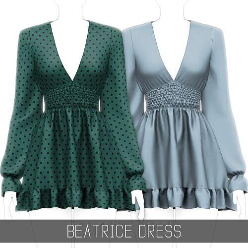 Beatrice Sims 4 Short Dress