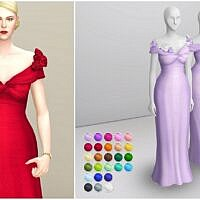 Bloome Sims 4 Gown With Flowers