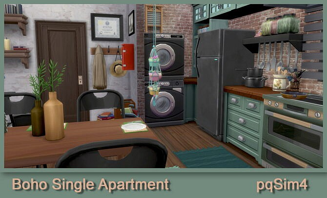Sims 4 Boho single apartment at pqSims4