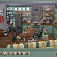 Boho Single Sims 4 Apartment