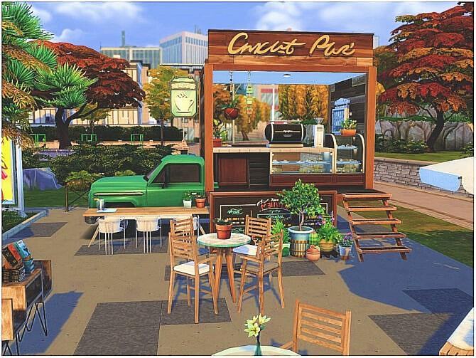 Sims 4 Book Truck by lotsbymanal at TSR