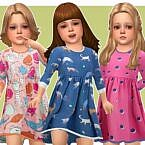 Brenda Sims 4 Dress For Toddlers