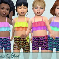 Butterfly Toddler Sims 4 Swimsuit