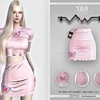 Butterfly Mini Sims 4 Skirt Bd432
