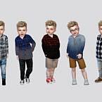 Buttonups Co Sims 4 Shirt Toddler