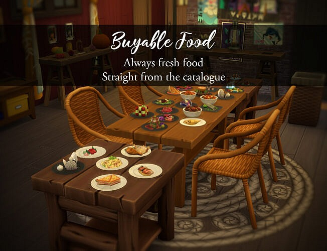 Buyable Sims 4 Food Mod