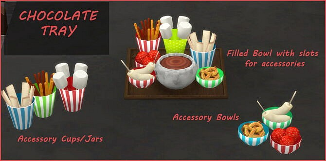 Chocolate Tray Sims 4
