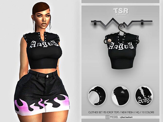 Sims 4 CROP TOP BD429 by busra tr at TSR