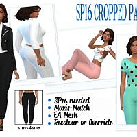 Cropped Sims 4 Pants Sp16