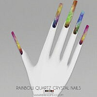 Crystal Sims 4 Nails Rainbow Quartz 1