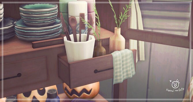 Sims 4 Cabinet 01 set at Haruinosato's CC