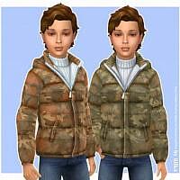 Camo Sims 4 Jacket Boys