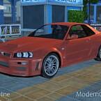 Car Sims 4 1999 Nissan Skyline