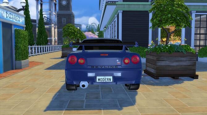 Sims 4 1999 Nissan Skyline at Modern Crafter CC