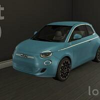 Car Sims 4 Fiat 500 Elettrica