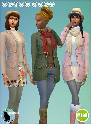 Carol Sims 4 Coats