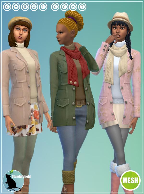 Sims 4 Carol Coats at Standardheld