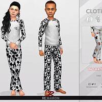 Cartoon Pajama Sims 4 Pants For Kids
