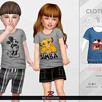 Cartoon Sims 4 Shirt For Toddler 01