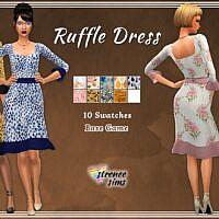 Casual Ruffle Sims 4 Dress