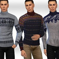 Casual Sims 4 Pullovers Male