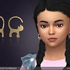 Cat Tail Hoop Sims 4 Earrings For Kids