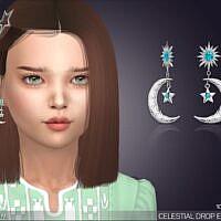 Celestial Drop Sims 4 Earrings Kids