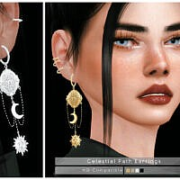Celestial Path Sims 4 Earrings
