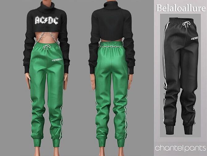 Sims 4 Chantel track pants by belal1997 at TSR