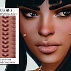 Cheek Sims 4 Piercings Nb01