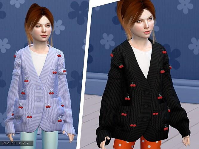Cherry Knit Sims 4 Sweater Child